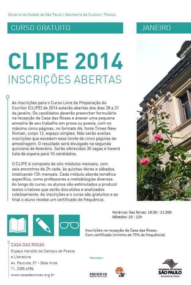 Clipe 2014 - Casa das Rosas